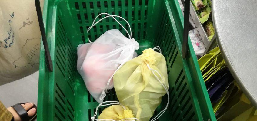 Nešamės daugkartinius maišelius į parduotuvę!